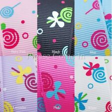 "Grosgrain Ribbon 25mm 1"" Yummy Lollipop"