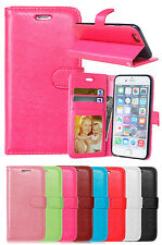 NEW For iPhone Samsung Luxury Flip PU Leather Wallet Card Cover Stand Phone Case