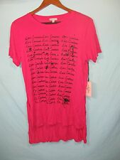 """NWT Juicy Couture White Women's Pink Short Sleeve Top """" Love Couture """""""