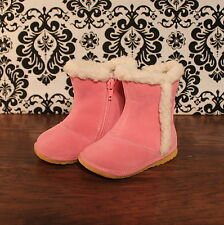 Light Pink Toddler Girls Lined Winter Squeaky Boots Shoes, Sizes 3 4 5 6 7 8