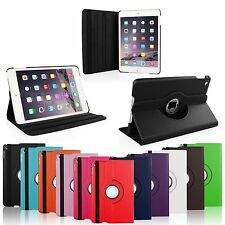 360 Rotating PU Leather Smart Case Swivel Stand Cover For Apple iPad Mini 4