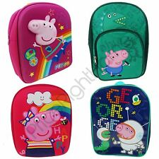 PEPPA PIG & GEORGE BACKPACKS GIRLS BOYS SCHOOL BAGS RUCKSACK NEW FREE P+P