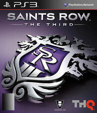 SAINTS ROW THE THIRD (PS3) PLAYSTATION 3 GAME (MA 15+) WITH MANUAL * MINT DISC