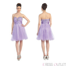 Homecoming Strapless Sweetheart Beaded Sequins Mesh Tulle Sassy Prom Dress