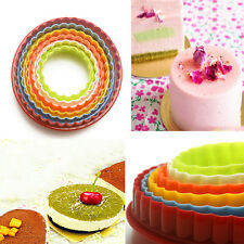 Cute 5pc Cookie Fondant Cake Decorating Sugarcraft Plunger Cutter Tool Mold