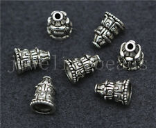 New 10/50/260pcs Tibetan Silver Beautiful Small Tower Charms Spacer Beads 10x7mm