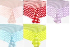 POLKA DOT PLASTIC TABLECOVER BIRTHDAY PARTY SUPPLIES DECOR TABLECLOTH  PINK,BLUE