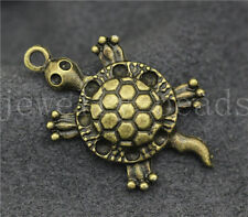 New 5/20/100pcs Antique Bronze Lovely Sea turtles Jewelry Charms Pendant 32x18mm