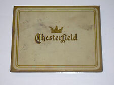 Vintage Chesterfield Cigarette Cigarettes Metal Tin Liggett & Myers Tobacco Co.
