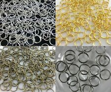 4mm,5mm,6mm,8mm,10mm,12mm,14mm Jump Rings Open Connectors Jewelry Finfing Craft