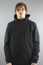 Duck & Cover DAC1G0016 Mens Mission Hooded Soft Shell Jacket Black