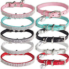 "Extra Small PU Leather Fancy Collar with BELL for Cats Kitten  7""-10"""