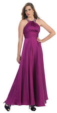Halter Top Long Formal Prom Dress Plus Size Evening Gown Wedding Event