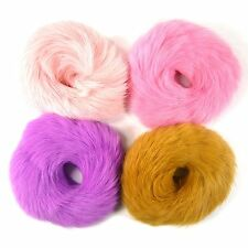 Real Rabbit Fur Scrunchie Ponytail Holder Hair Tie Rope Ring Band Accessory Rex