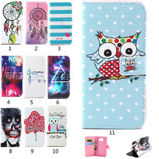 Stand Cute Card Slots Flip Wallet PU Leather Case Cover For Samsung Galaxy Phone
