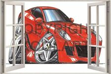 Huge 3D Koolart Window view Ferrari 599 Gtr Wall Sticker Poster 1916