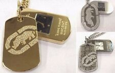 Authentic Marc Ecko Dog Tag Necklace Chain Watch Men Women Unisex Bling Rhino
