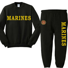 US Marines sweatpants sweatshirt usmc sweats tracksuit jogging set warm-ups