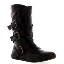 Womens Blowfish Olin Winter Casual Chocolate Snow Buckle Mid Calf Boots UK 3-9
