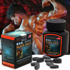 USA Black Gold Effect 100% Sex Pill Enhancer all Natural Herbal man strong