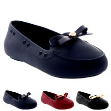 Womens Mel Dreamed By Melissa Moon Bow Flat Moccasin Slip On Work Shoes US 5-10