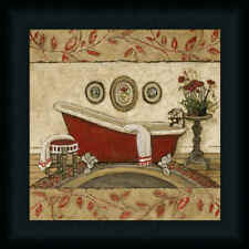 Crimson Moment II Red Bathroom Décor Framed Art Print Wall Décor Picture
