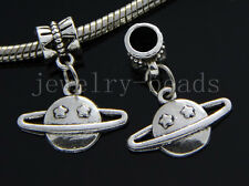 6/30/100pcs Tibetan Silver planet Bulk Lots Dangle Jewelry Craft Charms Bracelet