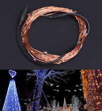 DC 12V 5m LED Decoration Light Strip Copper Wire Xmas Tree Indoor Outdoor Decor