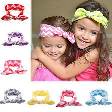 WDS  Rabbit Ears Baby Wave Headband Tie Elastic Headband Hair Accessories Cute