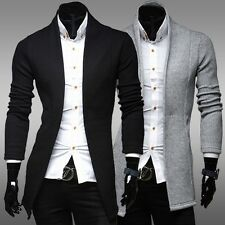 New Winter Fashion Stylish Men Casual Cardigan Knit Sweater Jacket Slim Fit Coat