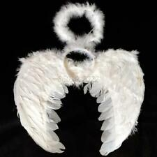 Lovely 3Pcs Halloween Party Costume Feather Angel Fairy Wings Wand Halo Set  B12
