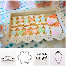 Xmas Stainless Steel Biscuit Cookie Pastry Fondant Mold Cutter Decorating jcau