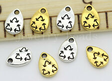 15/60/300pcs Tibetan Silver Mini Recyclable Mark Craft DIY Charms Pendant 10x7mm