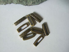 Bronze Triangle Shaped Slider Spacers Charms 11*2.5mm Flat Leather Cord Findings