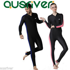 Man Women's Full Scuba & Snorkeling Suit Wet Suit Scuba Diving Suit Blue Pink