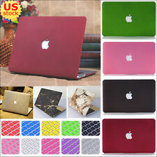 """2in1 Marble Quicksand Hard Case+Keyboard Cover for MacBook Retina Pro Air 11""""13"""""""
