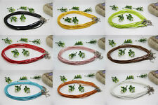 10/100pcs Man-made Leather Braid Rope Hemp Cord For Necklace Craft DIY 46cm