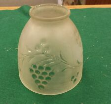 "Vintage Glass Lamp Shade - Frosted glass with Grapes. 2"" fitter"