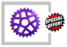 Savage PURPLE BMX Bike Bicycle Alloy 25 Tooth 6mm Chain wheel Ring Sprocket
