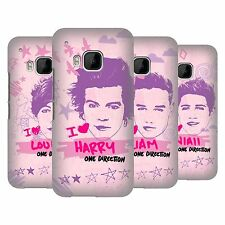 OFFICIAL ONE DIRECTION PINK GRAPHIC FACES HARD BACK CASE FOR HTC PHONES 1