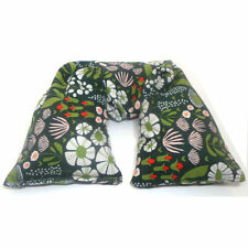 Organic Cotton Hot or Cold Therapy Flax Neck Pillow - Green Cordurouy