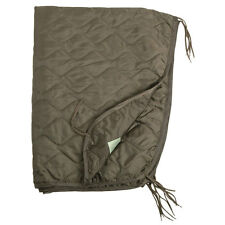 Army GI Rip-Stop Poncho Liner Camping Packable Quilted Picnic Blanket Mat Green