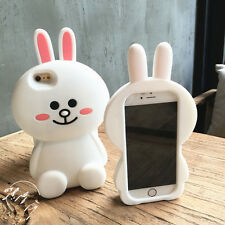Cute 3D cartoon Rabbit Bunny silicone soft case cover for iphone 8 X 7 6 6S plus