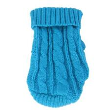 Lake blue Pet Dog Puppy Turtleneck Knitwear Sweater Clothes Apparel Coat 4#-12#