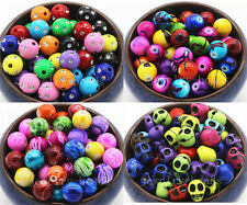 25/100/500pcs Mixed Color Round Colorful Acrylic Metal Enlaced Beads Craft New