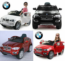 KID CHILD RIDE ON CAR TWIN MOTOR BMW X6 Remote PARENTS CONTROL RUBBER WHEELS