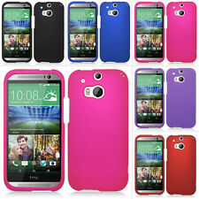 For HTC One M8 / One 2 II (2014) Rubberized Slim Hard Matte Case Snap On Cover