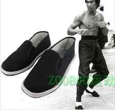 Hot! Chinese Martial Art Kung Fu Ninja Shoes Slip On RUBBER Sole Canvas Slippers