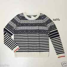 J.Crew Factory Fair Isle Sweater With Stripes NWT Size: S, M, L