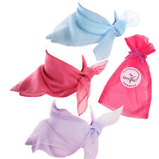 Garden Party Fashion Scarf Set - Blue, Rose Pink, Lilac Sheer Chiffon Scarves